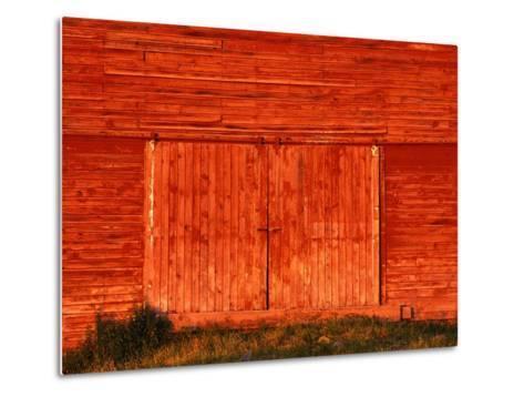 Detail of a Red Barn-Stuart Westmorland-Metal Print