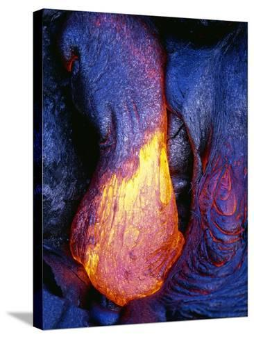 Lava Flowing from Kilauea-Paul Souders-Stretched Canvas Print