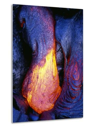 Lava Flowing from Kilauea-Paul Souders-Metal Print