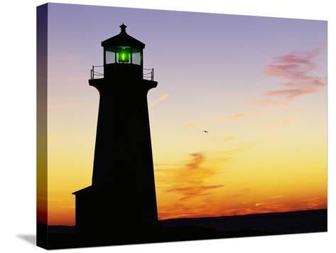 Peggy's Cove Lighthouse at Sunset-Paul Souders-Stretched Canvas Print