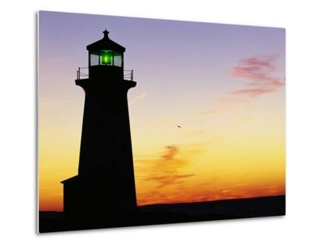 Peggy's Cove Lighthouse at Sunset-Paul Souders-Metal Print