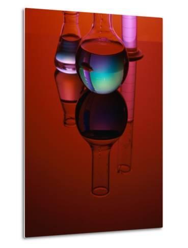 Labware with Liquid-James L^ Amos-Metal Print