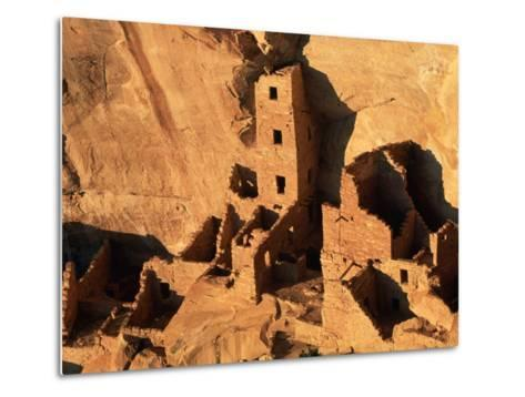 Four Story House in Cliff Palace-Joseph Sohm-Metal Print