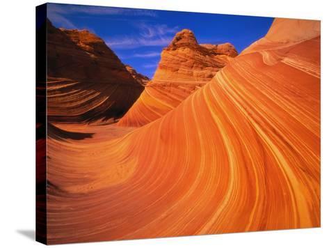 Coyote Butte's Sandstone Stripes-Joseph Sohm-Stretched Canvas Print