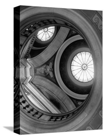 Interior of Essex County Courthouse Rotunda-Karen Tweedy-Holmes-Stretched Canvas Print