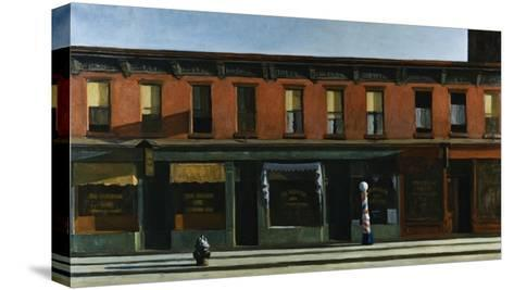 Early Sunday Morning-Edward Hopper-Stretched Canvas Print