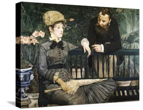 In the Conservatory-Edouard Manet-Stretched Canvas Print