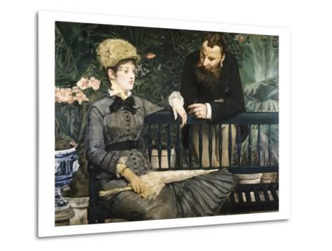 In the Conservatory-Edouard Manet-Metal Print