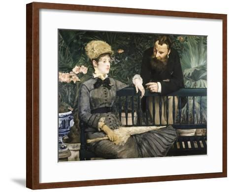 In the Conservatory-Edouard Manet-Framed Art Print
