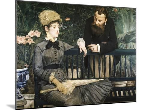 In the Conservatory-Edouard Manet-Mounted Giclee Print