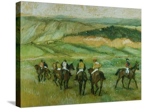 Before the Race-Edgar Degas-Stretched Canvas Print
