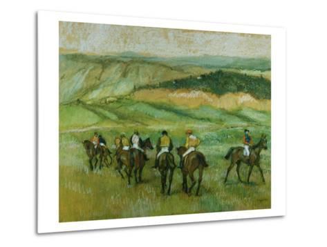 Before the Race-Edgar Degas-Metal Print