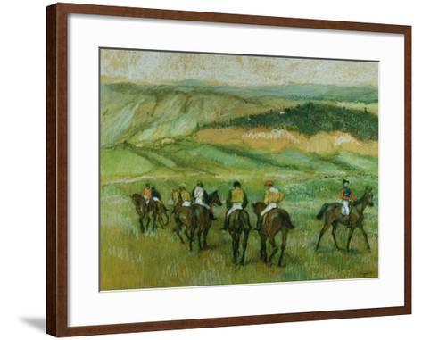 Before the Race-Edgar Degas-Framed Art Print