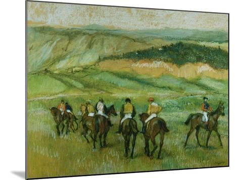 Before the Race-Edgar Degas-Mounted Giclee Print