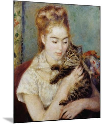 Woman with a Cat-Pierre-Auguste Renoir-Mounted Giclee Print