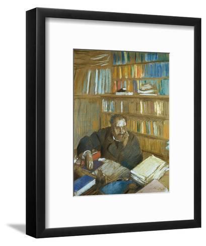 Portrait of Edmond Duranty-Edgar Degas-Framed Art Print