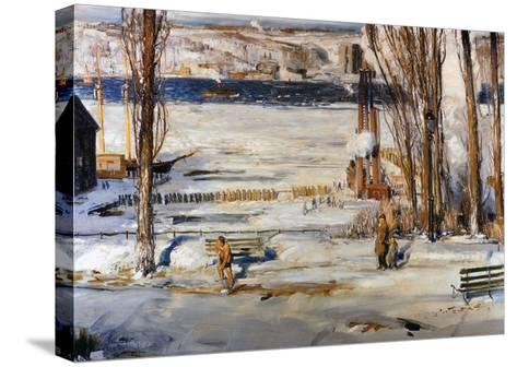 A Morning Snow, Hudson River-George Wesley Bellows-Stretched Canvas Print