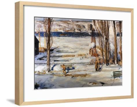 A Morning Snow, Hudson River-George Wesley Bellows-Framed Art Print
