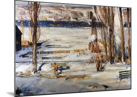 A Morning Snow, Hudson River-George Wesley Bellows-Mounted Giclee Print