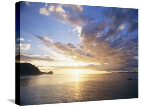 Boating Under Sunset in the Gulf of Nicoya-Macduff Everton-Stretched Canvas Print