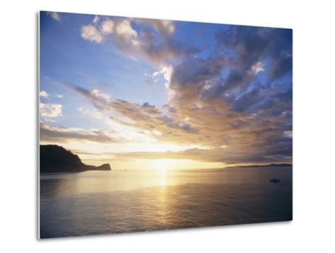 Boating Under Sunset in the Gulf of Nicoya-Macduff Everton-Metal Print