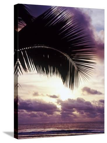 Sunset in Rarotonga-Craig Tuttle-Stretched Canvas Print