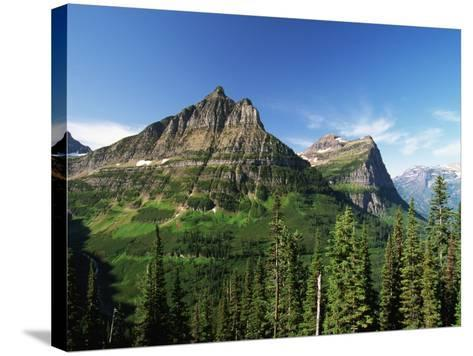 Glaciated Mountain Peaks-Neil Rabinowitz-Stretched Canvas Print