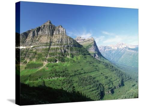 Glaciated Mountain Peaks and Valley-Neil Rabinowitz-Stretched Canvas Print