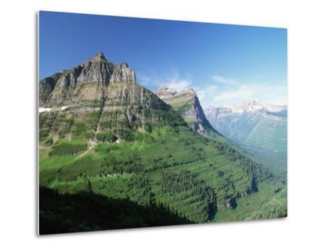 Glaciated Mountain Peaks and Valley-Neil Rabinowitz-Metal Print