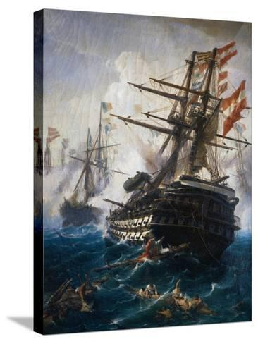 Seabattle by C. Bolanchi-Ali Meyer-Stretched Canvas Print