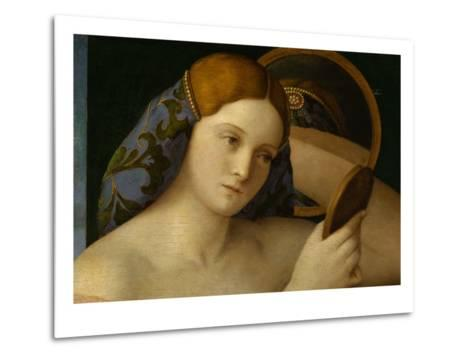 Detail of Young Woman with a Mirror-Giovanni Bellini-Metal Print