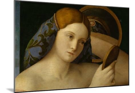 Detail of Young Woman with a Mirror-Giovanni Bellini-Mounted Giclee Print