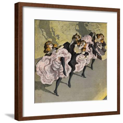 Four Girls Dancing Cancan-Bettmann-Framed Art Print