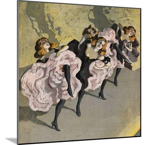 Four Girls Dancing Cancan-Bettmann-Mounted Giclee Print