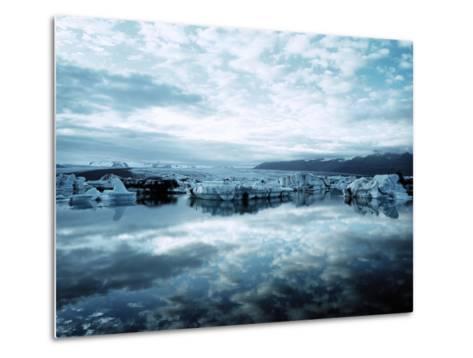 Bergy Bits Near Pack Ice--Metal Print