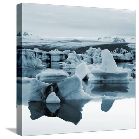 Bergy Bits Near Pack Ice--Stretched Canvas Print