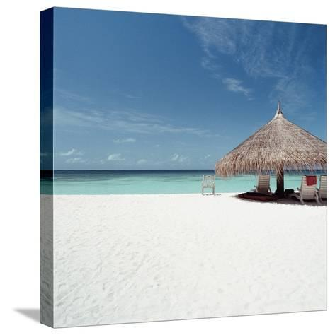 Cabana at the Beach--Stretched Canvas Print
