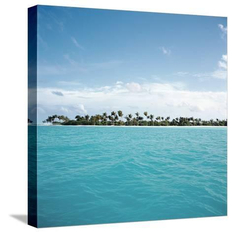 Shallow Water Near Tropical Island--Stretched Canvas Print