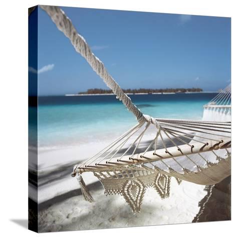 Hammock on a Beach--Stretched Canvas Print