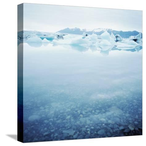 Icey Waters--Stretched Canvas Print