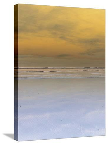 Waves Crashing onto Beach--Stretched Canvas Print
