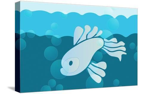 Blue fish--Stretched Canvas Print