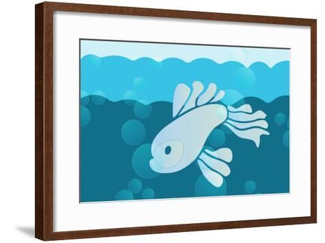 Blue fish--Framed Art Print