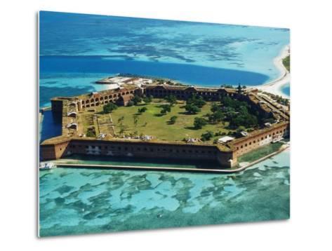 Aerial View of Fort Jefferson-Bob Krist-Metal Print