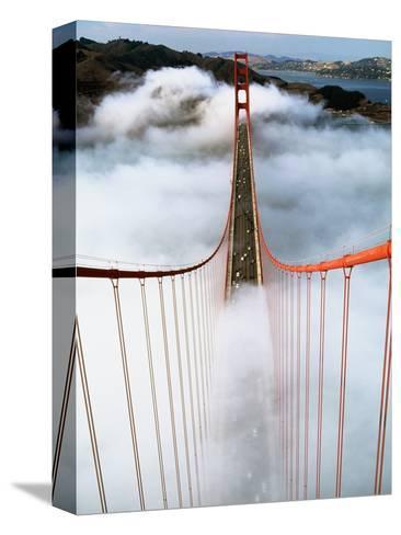 Golden Gate Bridge Wrapped in Fog-Roger Ressmeyer-Stretched Canvas Print