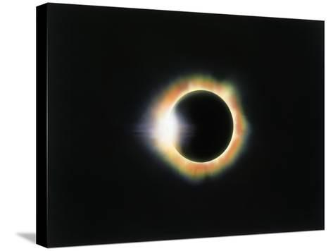 Eclipse with a Diamond Ring Effect-Roger Ressmeyer-Stretched Canvas Print