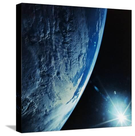 Florida Peninsula from Discovery--Stretched Canvas Print
