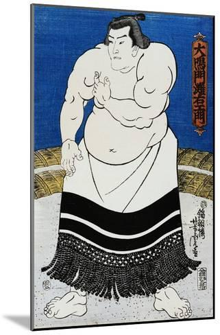 Japanese Print of a Sumo Wrestler Probably by Kunisada-Stefano Bianchetti-Mounted Giclee Print