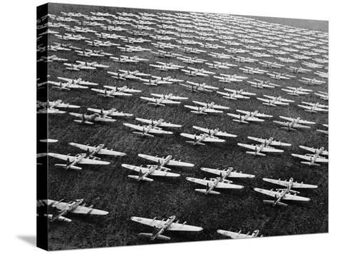 Hundreds of B-29 Flying Fortresses Await Scrap Heap-Bettmann-Stretched Canvas Print