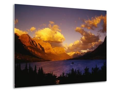 Sunrise over St. Mary Lake-Darrell Gulin-Metal Print